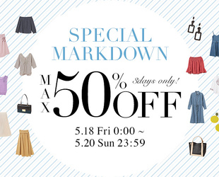 Markdown MAX50%OFF
