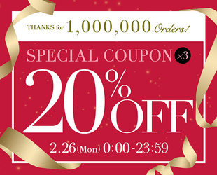 20%OFF COUPON × 3