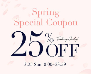 25%OFF COUPON × 3