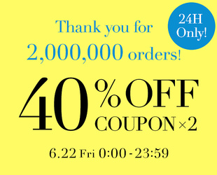 40%OFF COUPON × 2