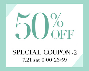 50%OFF COUPON × 2