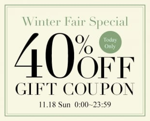 40%OFF WINTER COUPON