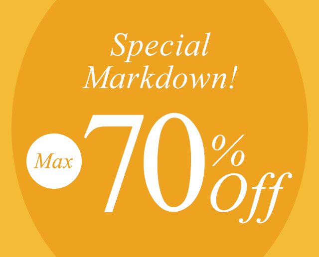 SPECIAL MARKDOWN 【70%OFF】が開始しました
