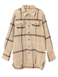 【スタイリストプロデュース】チェックオーバーサイズシャツジャケット