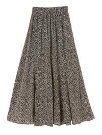 【インスタグラマーコラボ】小花柄ロングフレアスカート