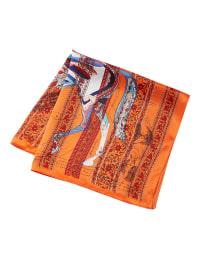 シルクホースデザインカラースカーフ