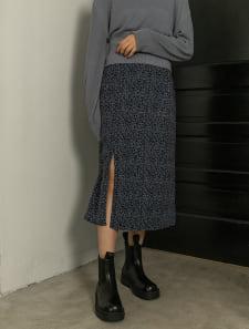 レオパードスリットタイトスカート