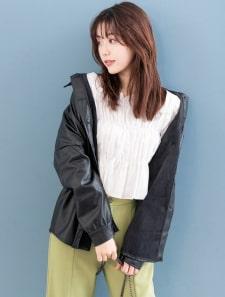 エコレザーウエストマークジャケット