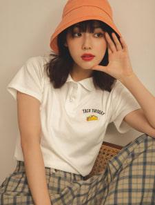タコス刺繍ポロシャツ