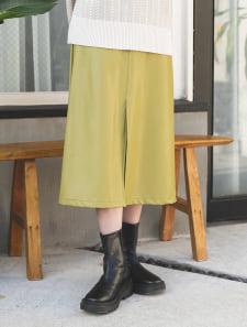 エコレザーセンタースリットスカート
