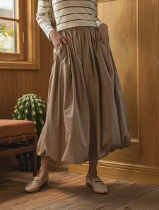 ウエストゴムバルーンスカート
