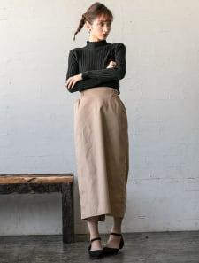 ポケット付きタイトロングスカート