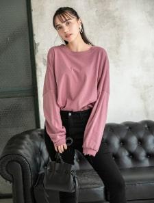 カットオフオーバーサイズロングTシャツ