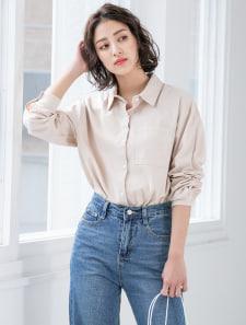 ワンポケットコットンシャツ