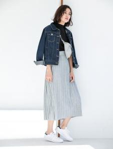 【インスタグラマーコラボ】シャーリングカットロングスカート