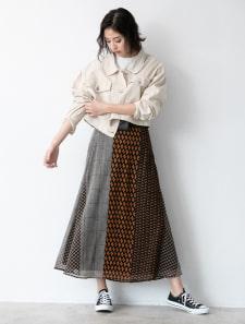 レトロプリントロングスカート