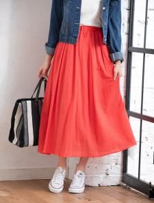楊柳フレアロングスカート