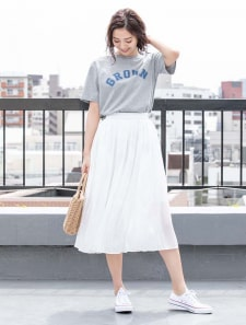 【星玲奈プロデュース】カラープリーツスカート