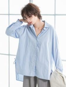 バックロングサイドデザインシャツ