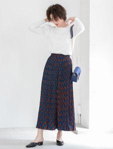デザインカラープリーツスカート