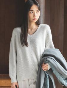 【星玲奈レコメンド】マシュマロタッチVネックニット