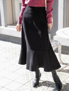【星玲奈レコメンド】リブレスコーデュロイフレアヘムスカート
