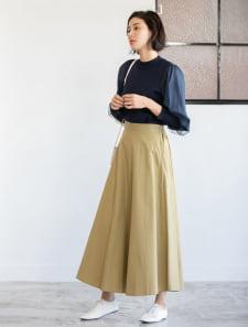 チノフレアロングスカート
