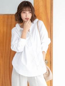 2wayスリーブ抜き衿デザインシャツ