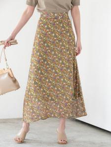ランダムフラワーカラースカート