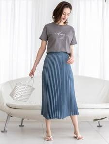 ロングプリーツカラースカート
