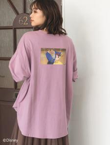 【Disney】美女と野獣/カラープリントロングTシャツ