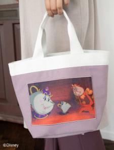 【Disney】美女と野獣/バイカラートートバッグ