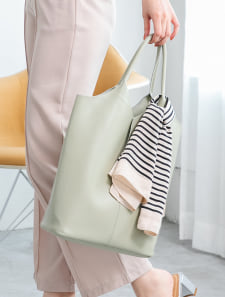 スカーフ付センターシームバッグ