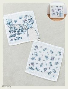 【Disney】白雪姫/コットンガーゼハンドタオル2枚セット