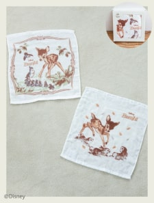 【Disney】バンビ/コットンガーゼハンドタオル2枚セット