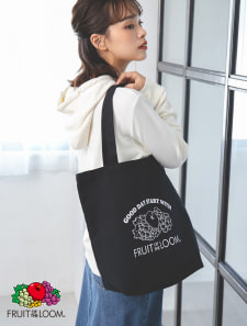 【FRUIT OF THE LOOM】モノトーンロゴトートバッグ