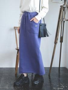 【DISCUS ATHLETIC】USAコットン裏毛バックスリットスカート