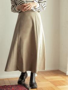 ピーチスウェードマーメイドスカート