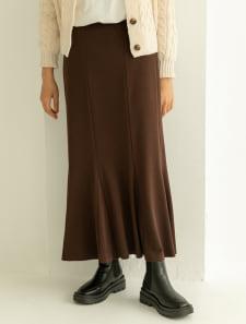 【ももちセレクト】ポンチマーメイドフレアスカート
