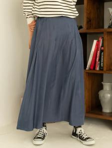 変形タックマーメイドスカート