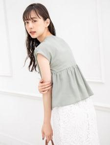 【新田さちかレコメンド】バックペプラムフレンチスリーブブラウス