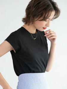 フレンチスリーブベーシックTシャツ