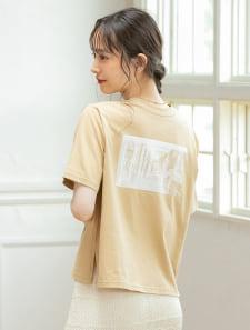 バックプリントグラフィックTシャツ
