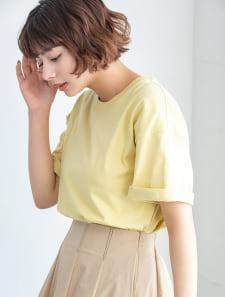 【DISCUS ATHLETIC】USAコットンドロップショルダーワイドTシャツ