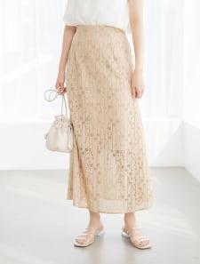 カットレースマーメイドスカート