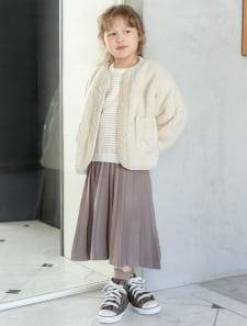 【KIDS】プリーツニットスカート