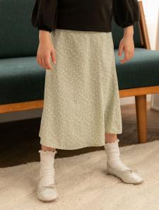 【KIDS】小花柄マーメイドスカート