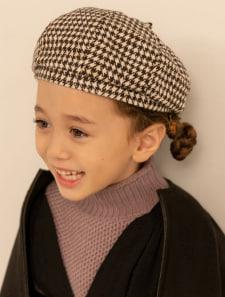 【KIDS】千鳥柄ベレー帽