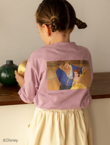 【KIDS】【Disney】美女と野獣/カラープリントロングTシャツ
