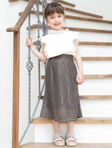 【KIDS】カットレースマーメイドスカート